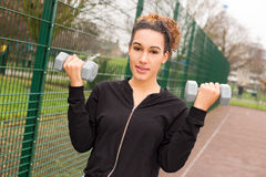 Dumbbell workout Stock Photography
