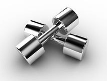 Dumbbells. Illustration of pair dumbbells on a white background Royalty Free Stock Photography