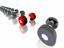 Dumbbells. For bodybuilding. Sports equipment Stock Photo