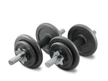 The dumbbells. Royalty Free Stock Photos