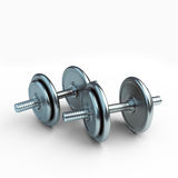 Dumbbells. Steel dumbbellы on a white background Royalty Free Stock Photos