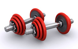 dumbbells Photos libres de droits