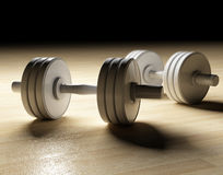 Dumbbells background. Image 3d of classic dumbbells background Royalty Free Stock Photography