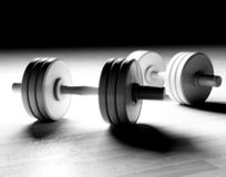 Dumbbells background Stock Photography
