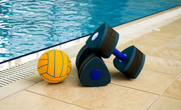 Dumbbells and Ball Stock Photo