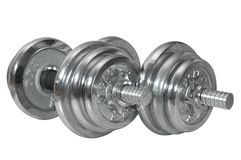 Dumbbells (barbells) on isolated background. Stock Images