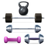Dumbbells Barbells And Weight Stock Photo