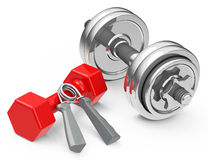 The dumbbells Stock Images