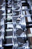 Dumbbells del metallo Fotografia Stock Libera da Diritti