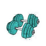 Dumbbells drawn in vector. Illustration for a postcard or a poster. Beauty, strength and health. Sport. Healthy lifestyle. Weightl. Dumbbells drawn in vector Royalty Free Stock Photos