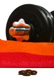 Dumbbells and Drugs Stock Images