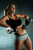 Dumbbells exercises Stock Photography