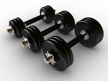 Dumbbells in fitness center Stock Image