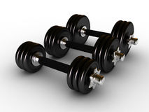 Dumbbells in fitness center royalty free stock image