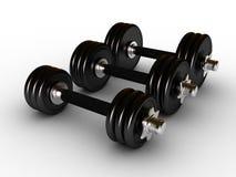 Dumbbells in fitness center Royalty Free Stock Image