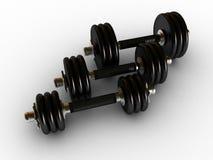 Dumbbells in fitness center Stock Photography