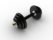 Dumbbells in fitness center royalty free stock photos