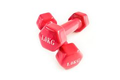 Dumbbells for fitness Royalty Free Stock Photos