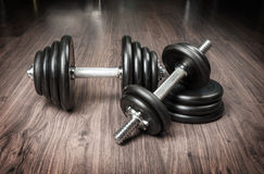 Dumbbells for fitness Stock Photo