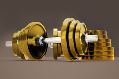 Dumbbells. Stock Photo