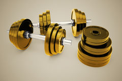 Dumbbells. Royalty Free Stock Photo