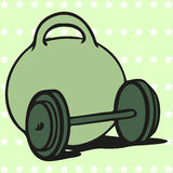 Dumbbells  icon Royalty Free Stock Images