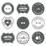 Dumbbells icons. Fitness sport symbols Royalty Free Stock Image