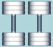 Dumbbells. Illustration of the composite dumbbells Royalty Free Stock Photos