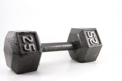 Dumbbells isolated Stock Images
