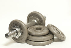 Dumbbells isolated Stock Photos