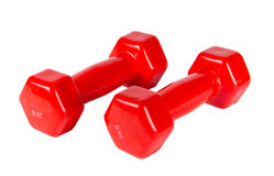 Dumbbells isolated on white background Royalty Free Stock Photos