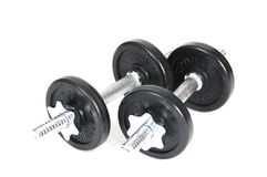 Dumbbells isolati Immagine Stock
