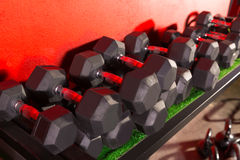 Dumbbells and Kettlebells weight training gym Royalty Free Stock Photography