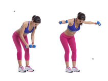 Dumbbells lateral raise Royalty Free Stock Images