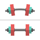 Dumbbells, normal and bent Stock Photos