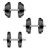 Dumbbells set Stock Photo