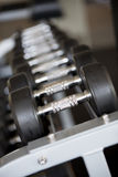 Dumbbells shallow depth of focus Royalty Free Stock Image