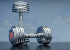 Dumbbells sports equipment Royalty Free Stock Image