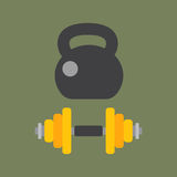 Dumbbells stack lined up rack with metal chrome gym tools center indoor workout activity and heavy equipment health Stock Photo