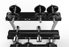 Dumbbells Stand Royalty Free Stock Photo