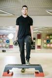 dumbbells target268_1_ Fizyczni ćwiczenia z ciężarem 15 kg Obraz Royalty Free