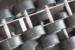 Dumbbells from top Royalty Free Stock Photography
