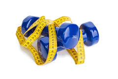 The dumbbells Royalty Free Stock Photo