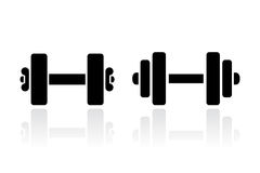Dumbbells vector icon Royalty Free Stock Photography