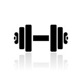 Dumbbells vector icon Royalty Free Stock Image