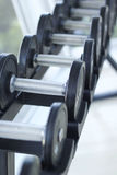 Dumbbells for weight lifting to exercise Stock Photos