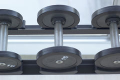 Dumbbells for weight lifting to exercise Royalty Free Stock Image