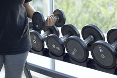 Dumbbells for weight lifting to exercise Royalty Free Stock Images