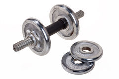 Dumbbells. On a white background Royalty Free Stock Image