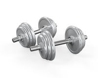 Dumbbells  on White Royalty Free Stock Photo